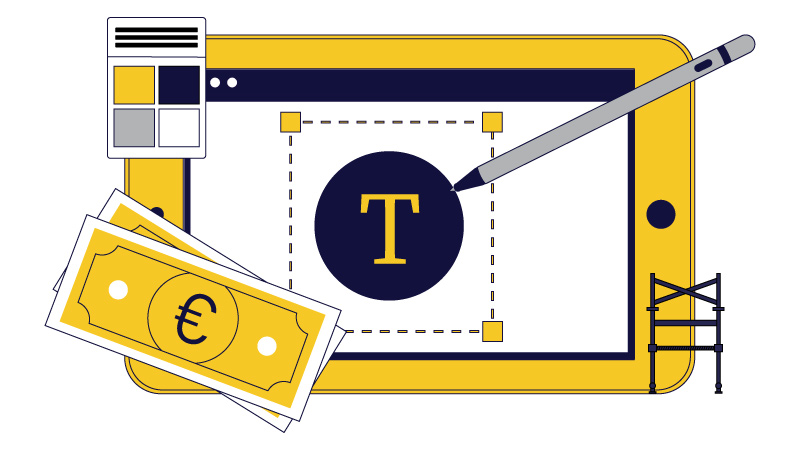 the average logo design cost for a logo-maker freelancer and agency